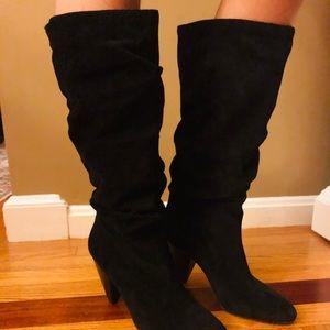Vince Camuto Suede Heel Knee High Dress Boots